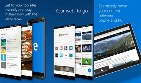 android edge microsoft brings its edge browser to android os