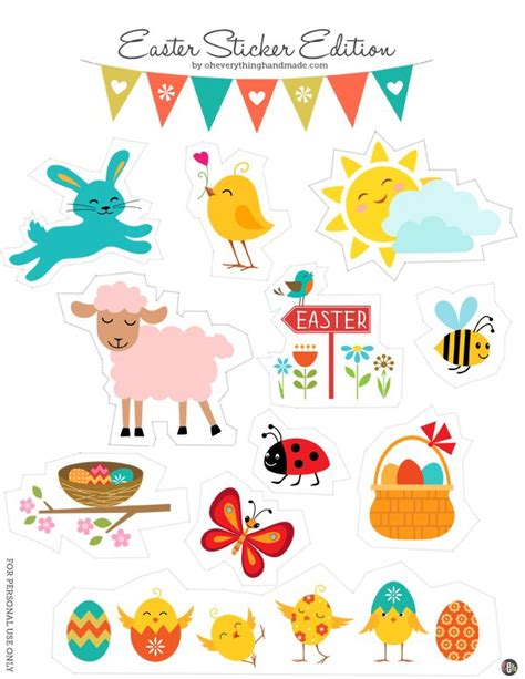 printable easter stickers 5511 best images about free printables and more on