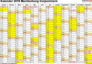 Kalender 2018 Mit Feiertagen Mv Ferien Mecklenburg Vorpommern 2018 220 Bersicht Der