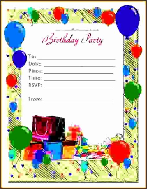 Free Birthday Card Templates For Word 2007 by 6 Ms Word Birthday Card Template Sletemplatess