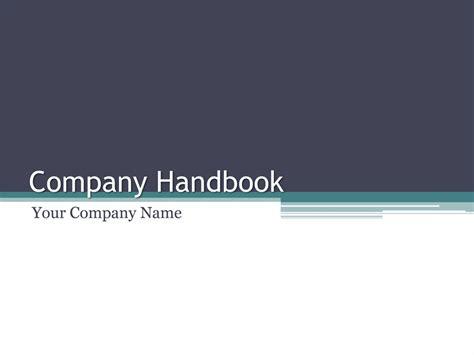 company handbook template company handbook powerpoint templates