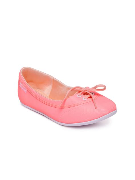 neon pink flat shoes myntra adidas neo neon pink flat shoes 655767 buy