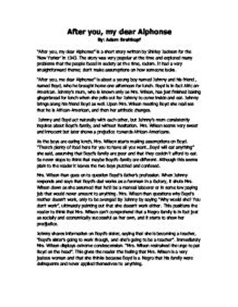 Story Analysis Essay Exle by Story Analysis A Level Marked By Teachers