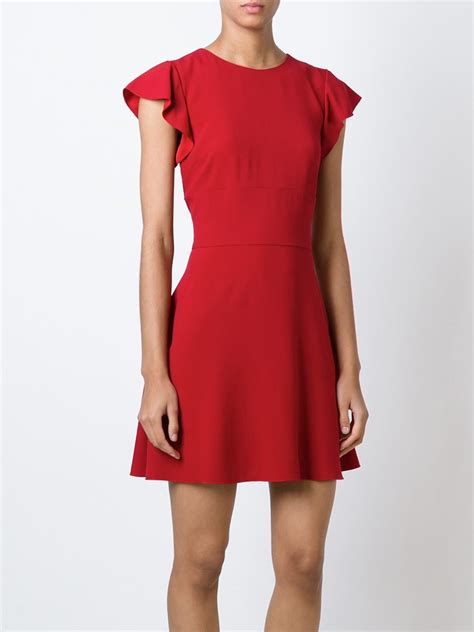 lyst red valentino shortsleeved flared dress  red