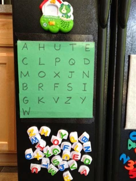 kindergarten activities with magnetic letters one letter chart on a magnetic surface with your magnetic