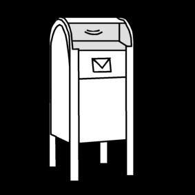 cassetta delle poste disegno da colorare cassetta delle poste cat 20444