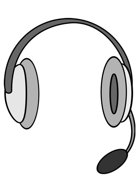 earphones coloring page coloring page headphones with microphone img 27133