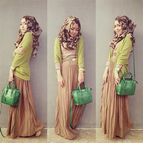 Longdress Syari 2 Warna model baju muslim terbaru untuk remaja putri