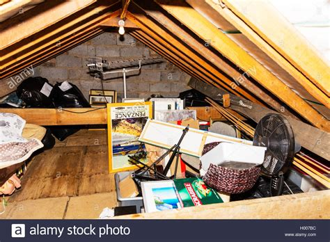 attic space house loft space attic space used for storage of junk