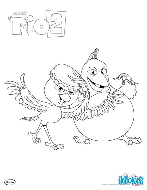 coloring rio movie online coloring pages