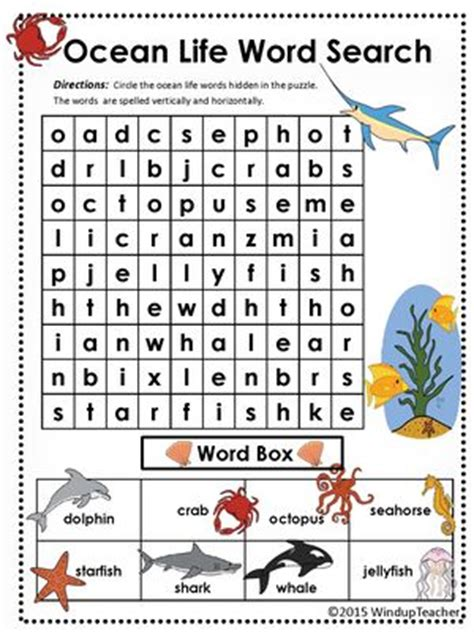 easy printable animal word search word search ocean and animals on pinterest