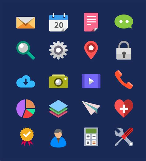 flat design icon download 20 flat icons psd graphicsfuel