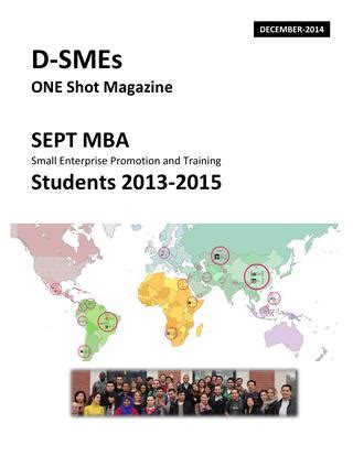 Sept Mba by D Smes One Magazine Sept Mba Students 2013 2015 By