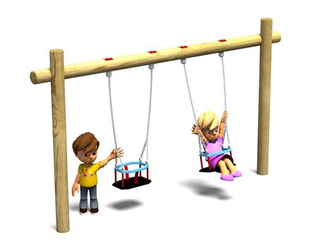 a child swings on a playground swing toddler swing playground swings action play leisure