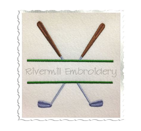 embroidery design golf split golf clubs machine embroidery design 4 sizes
