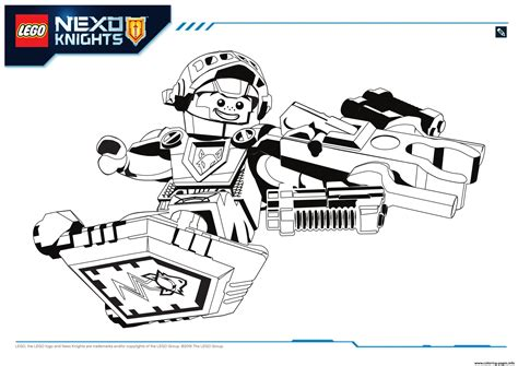 nexo knights coloring pages aaron lego nexo knights aaron 1 coloring pages printable