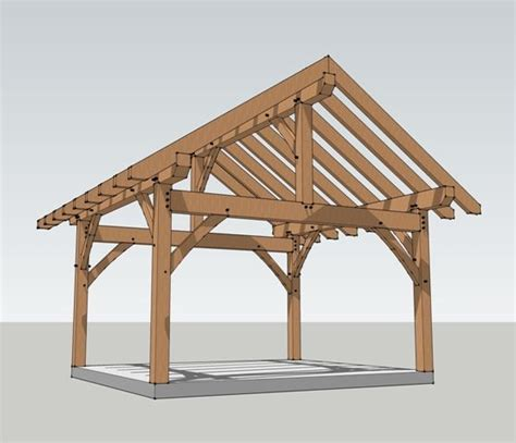 pavilion designs and plans 16x16 timber frame plan backyard pergolas and patios