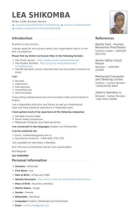 Hospitalité Exemple de CV   Base de données des CV de VisualCV