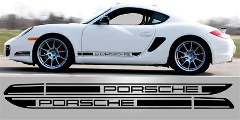 Porsche Cayman Aufkleber by Cayman R 987 Door Decals Renndecals