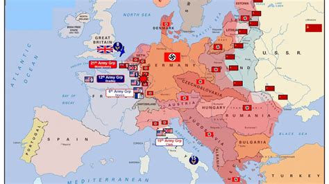 animated map  wwii  europe youtube