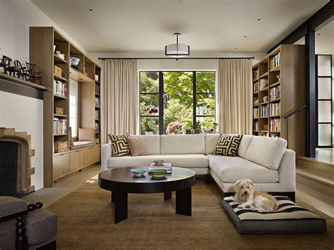 the living room seattle classic seattle lakefront house gets a bookish modern twist