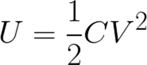 energy of capacitor formula electric potential energy in a capacitor given electric potential difference and capacitance