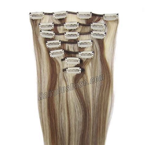 8 inch human hair extensions 26 inch 8 613 brown clip in remy human hair
