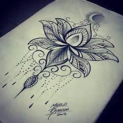 Lotus Mandala Design Dotwork Lotus Tattoos