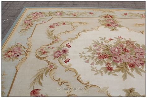 Chic Area Rugs Blue Ivory W Pink Aubusson Area Rug Free Ship Wool Woven Shabby Chic Ebay