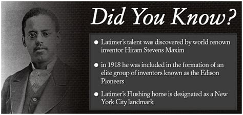 Biography Black History Facts | lewis h latimer did you know did you know black history
