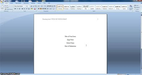 Format Your Essay Apa Style by How To Format Your Essay In Apa Style