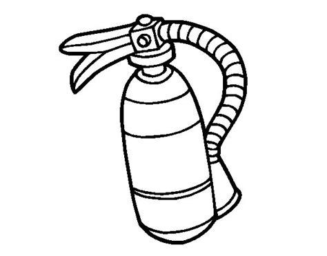 extinguisher coloring page coloringcrew com