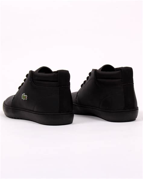 lacoste thill terra boots black leather s shoes