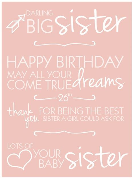 Birthday Quotes For Someone Who Away 25 Best Ideas About Happy Birthday Big Sister On