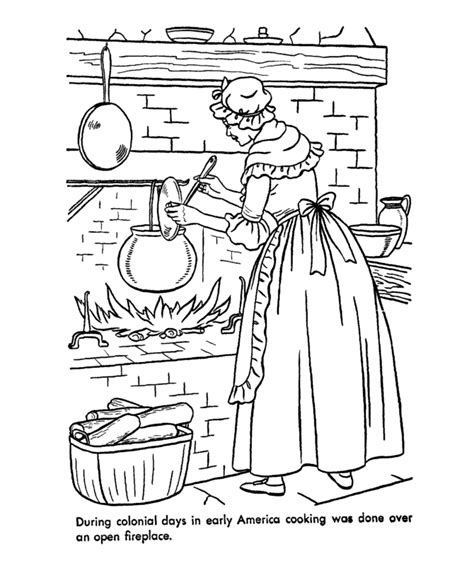 Colonial Coloring Pages colonial coloring pages coloring home