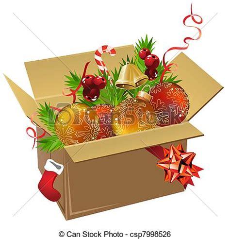 paper box full  christmas balls  decoration  white