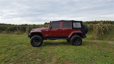 jeep maroon color 1j8ga69147l165951 2007 jeep wrangler unlimited rubicon
