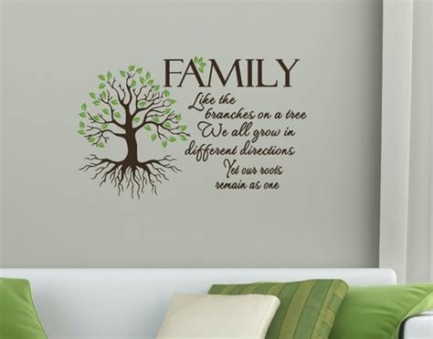 decorating a tree sayings family quote and personalized family tree wall canvas