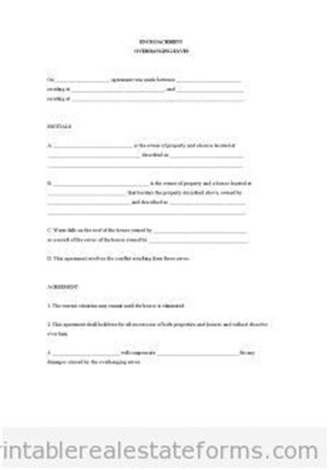 encroachment agreement template 1000 images about free printable real estate forms on