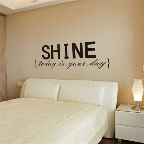 quote stickers for bedroom walls wall decor decal stickers quotes shine wall letters decor