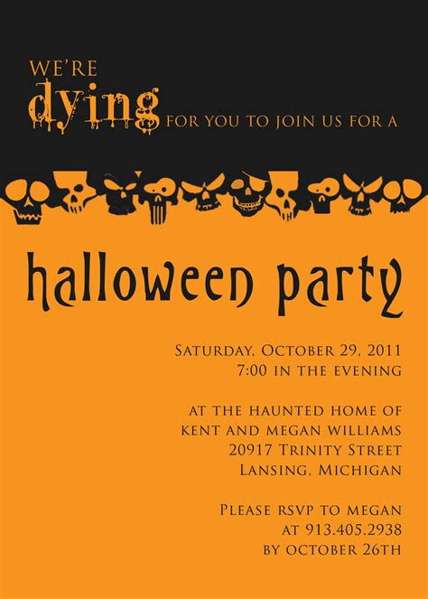 halloween party invite template plumegiant com