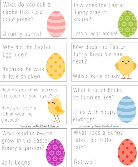 printable easter lunch box jokes 48 best images about lunch box notes etc on pinterest