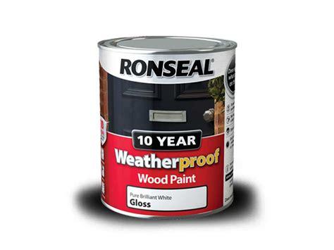 ronseal exterior paint ronseal wprbg750 750ml weatherproof 10 year exterior wood