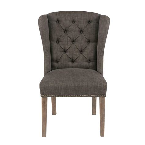 Grey Tufted Dining Chair Grey Tufted Dining Chair Living Parsons Dining Chair Set Of 2 Grey Tufted Chairs With Nailheads