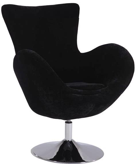 Contemporary Swivel Arm Chair Upholstered In Black Or Red Velvet Swivel Chair