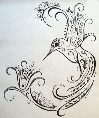 henna style hummingbird floating lotus tattoo studio