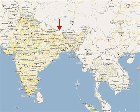 mt everest map where is mt everest on a world map my