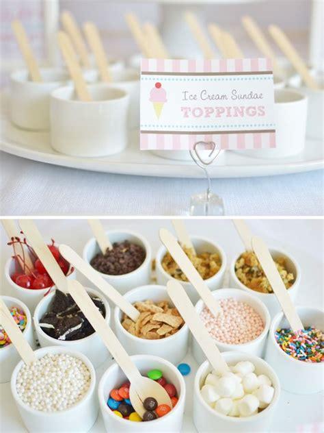toppings for ice cream bar summer ice cream parlour party sundae bar ice cream