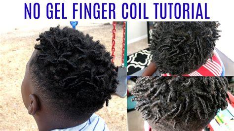 how long will finger coils last finger coils on short natural hair 4c no gel youtube