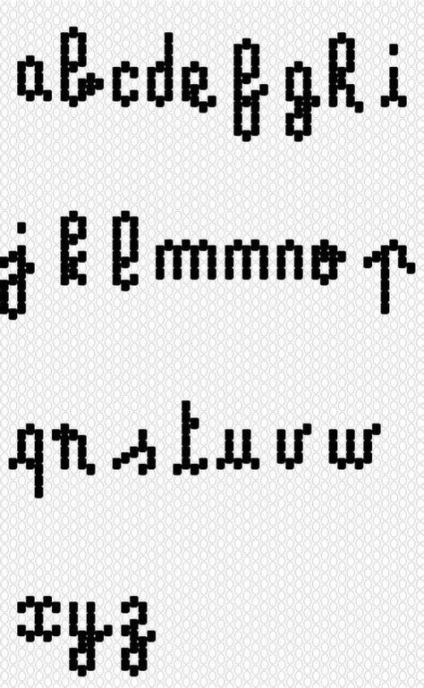 diagramme brick stitch tutoriel diagramme alphabet tissage lettres brick stitch